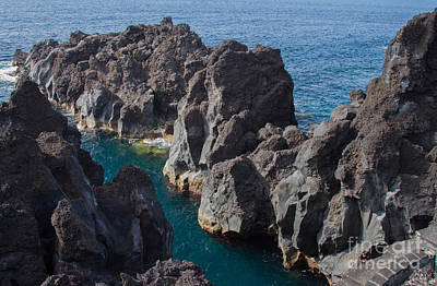 Photograph - Pico Island Sea Cliffs  by Chris Scroggins