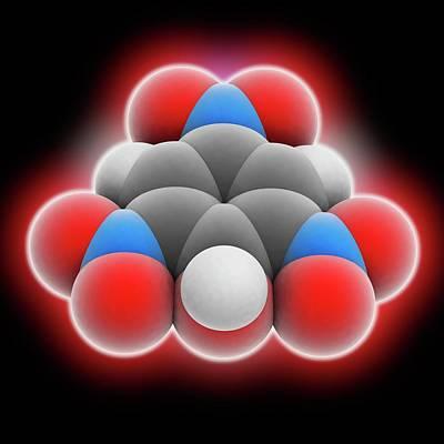 Picric Acid Molecule Print by Laguna Design