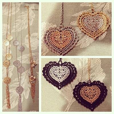 Jewelry Photograph - #picstitch #necklace #jewelry $5 #heart by Kristin Hecker