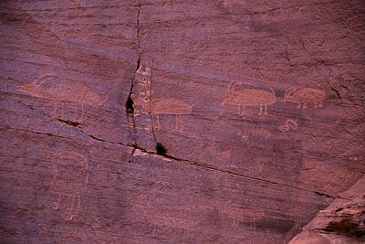 Photograph - Pictograph Cave Art by Garry Gay