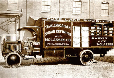 Picture 10 - New - Molasses Truck - Wide Art Print