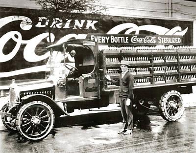 Picture 7 - New - Coca Cola Delivery Truck Art Print