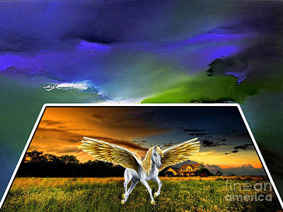 Art Horses Mixed Media - Picture A Pegasus by Marvin Blaine