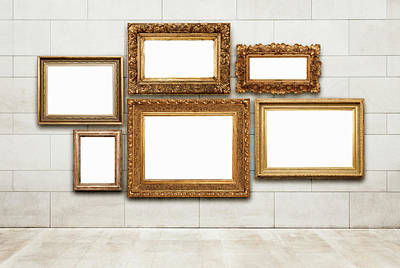 Picture Frames Art Print by Jorg Greuel