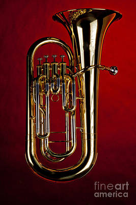 Photograph - Picture Of Bass Tuba Brass Instrument In Color 3394.02 by M K  Miller