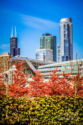 Soldier Field Wall Art - Photograph - Picture Of Chicago In Autumn by Paul Velgos