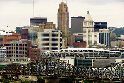 Pnc Photograph - Picture Of Cincinnati Skyline Office Buildings  by Paul Velgos