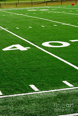 Football Royalty-Free and Rights-Managed Images - Picture of Football Field 40 Yard Line by Paul Velgos