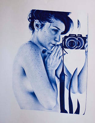 Vintage Camera Drawing - Picture Of Her. by Lucas Salgado