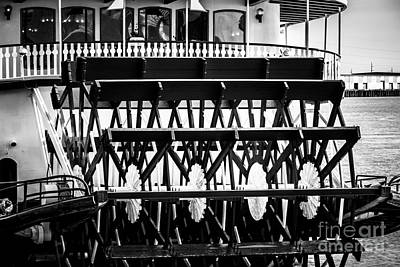 Steamboat Photograph - Picture Of Natchez Steamboat Paddle Wheel In New Orleans by Paul Velgos