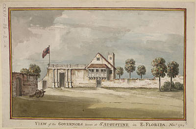 Picture Of The Governor's House Art Print by British Library