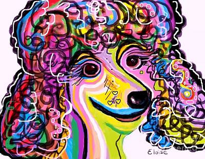 Picture Perfect Poodle  Art Print by Eloise Schneider