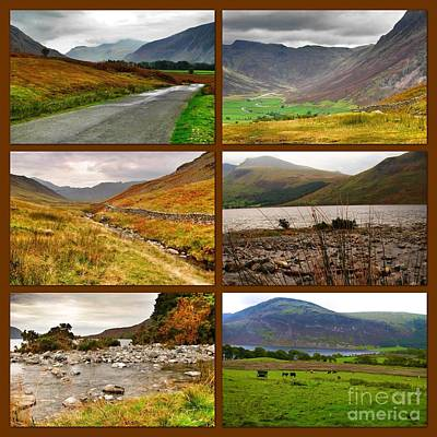 Photograph - Autumn Picture Window Of The Lake District by Joan-Violet Stretch