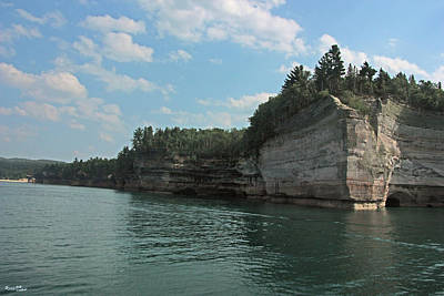 Pictured Rocks Battleship Formation Art Print by Bill Woodstock