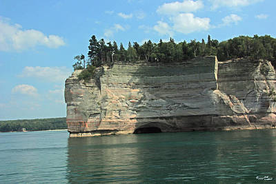 Pictured Rocks Battleship Formation Side View Art Print by Bill Woodstock
