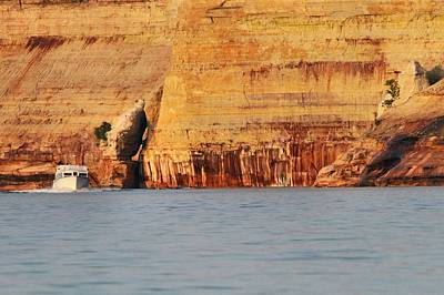 Photograph - Pictured Rocks Boat Tour by Dan Sproul