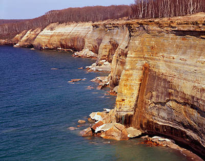 Photograph - Pictured Rocks Cliffs by Tom Daniel