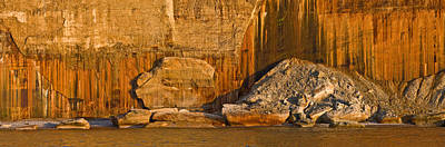 Pictured Rocks Near A Lake, Pictured Art Print