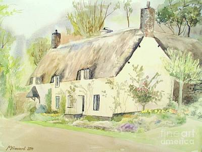 Martin Howard Painting - Picturesque Dunster Cottage by Martin Howard