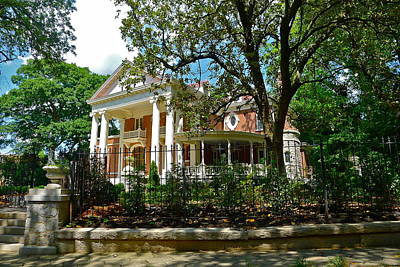 Photograph - Picturesque Southern Mansion by Denise Mazzocco