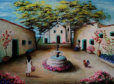 Painting - Picturesque Spanish Village by Stefon Marc Brown