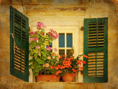 Photograph - Picturesque Taormina Window  by Carla Parris