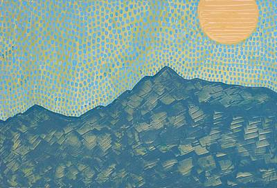 Painting - Picuris Mountains Original Painting by Sol Luckman