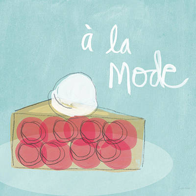 Pie A La Mode Art Print by Linda Woods