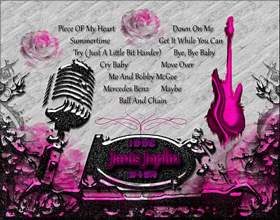 Rock And Roll Digital Art - Piece Of My Heart by Michael Damiani