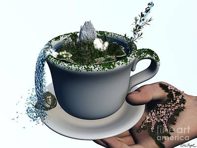 Piece Of Nature Cup Art Print by Eric Nagel