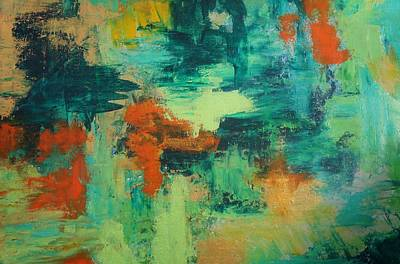 Art Print featuring the painting Pieces by Kristine Bogdanovich
