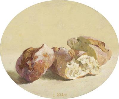 Painting - Pieces Of Baguette by Ben Rikken