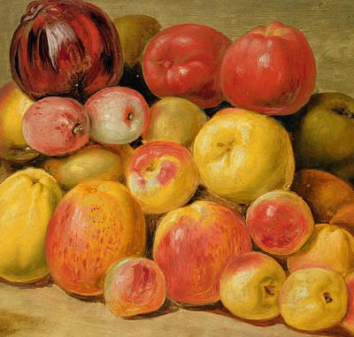 Pieces Of Fruit  Art Print by Johann Heinrich Wilhelm Tischbein