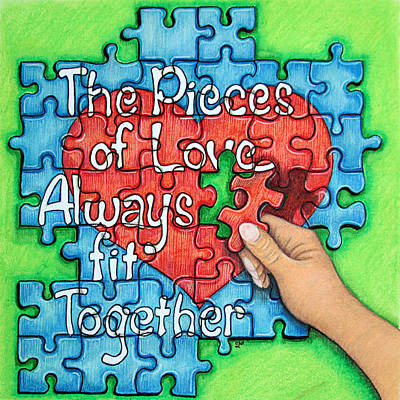Disorder Painting - Pieces Of Love... by Cheryl Disque