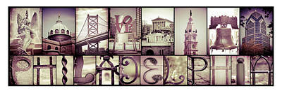Pieces Of Philly Art Print