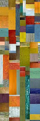 Compilation Painting - Pieces Parts Lll by Michelle Calkins
