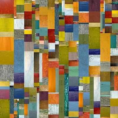 Compilation Painting - Pieces Parts Vl by Michelle Calkins