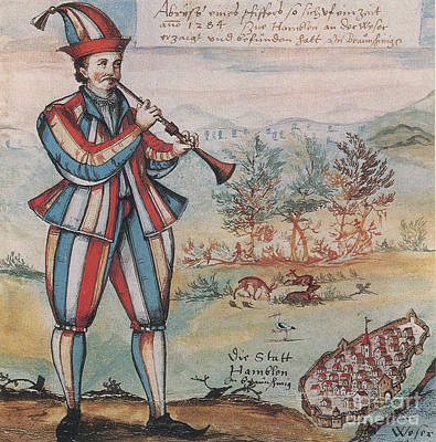 Pied Piper Of Hamelin, German Legend Art Print by Photo Researchers
