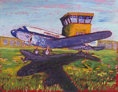 Dc-3 Painting - Piedmont Airlines by Preston Sandlin