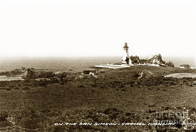 Photograph - Piedras Blancas Light Station San Simeon Carmel Highway Calif. Circa 1930 by California Views Mr Pat Hathaway Archives
