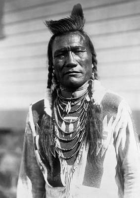 Photograph - Piegan Indian Man Circa 1909 by Aged Pixel