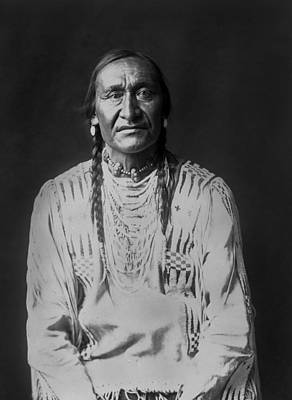 Wall Art - Photograph - Piegan Indian Man Circa 1910 by Aged Pixel