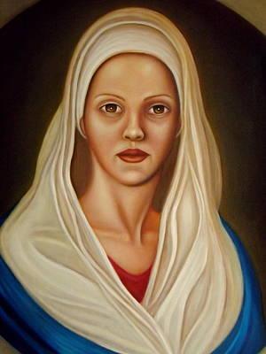 Religious Art Painting - Piena Di Grazia by Alessandra Veccia