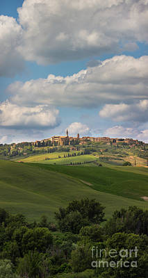 Photograph - Pienza In The Afternoon Panorama by Michele Steffey