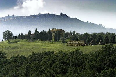 Pastoral Vineyards Photograph - Pienza Tuscany by Al Hurley