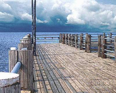 Photograph - Pier 1 Image C by Lee Owenby