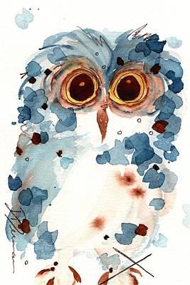 Pier 1 Owl Art Print by Dawn Derman