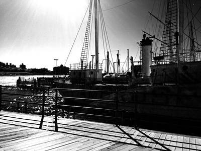 Pier 17 Digital Art - Pier 17 Black And White 2 by Joseph Paulino