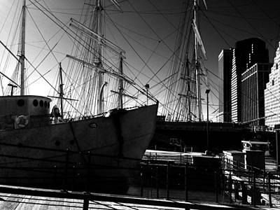 Pier 17 Digital Art - Pier 17 Black And White by Joseph Paulino