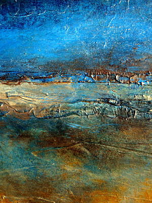 Acrylic Pour Painting - Pier 39 Heavily Textured Contemporary Abstract by Holly Anderson